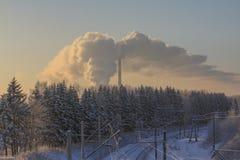 Día de invierno ferroviario Fotografía de archivo libre de regalías