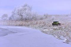 Día de invierno frío con la gran luz Imágenes de archivo libres de regalías