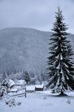 Día de invierno hermoso en montañas Imágenes de archivo libres de regalías