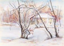 Día de invierno ligero Imagen de archivo libre de regalías