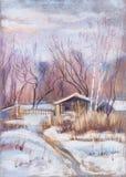Día de invierno soleado Fotografía de archivo libre de regalías