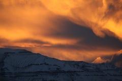 Día de inviernos en Groenlandia Fotos de archivo libres de regalías