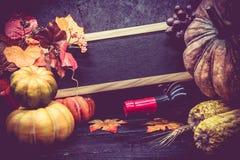 Día de la acción de gracias y estación del otoño Fotografía de archivo