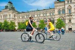 Día de la acción uniforme de la bici Imagen de archivo libre de regalías