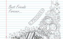 Día de la amistad ilustración del vector