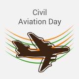 Día de la aviación civil stock de ilustración