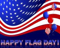Día de la bandera americano. Foto de archivo libre de regalías