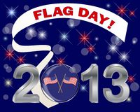 Día de la bandera americano. Foto de archivo