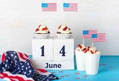 Día de la bandera de América Imagen de archivo libre de regalías