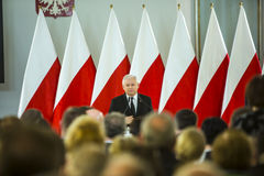 Día de la bandera de la República de Polonia en el Sejm de la República de Polonia, imagen de archivo