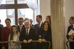 Día de la bandera de la República de Polonia en el Sejm de la República de Polonia, imágenes de archivo libres de regalías