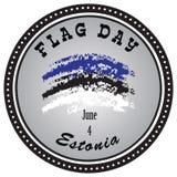 Día de la bandera Estonia del emblema ilustración del vector
