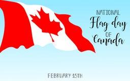 Día de la bandera nacional de tarjeta de felicitación de Canadá Ilustración del vector Fotos de archivo libres de regalías