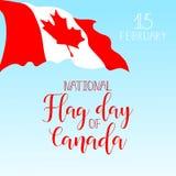 Día de la bandera nacional de tarjeta de felicitación de Canadá Ilustración del vector Fotografía de archivo libre de regalías