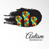 Día de la conciencia del autismo libre illustration