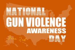 Día de la conciencia de la violencia armada Imagen de archivo