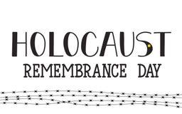 Día de la conmemoración del holocausto 27 de enero Ilustración del vector Foto de archivo libre de regalías