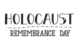 Día de la conmemoración del holocausto 27 de enero Ilustración del vector Fotografía de archivo