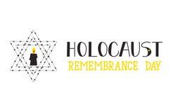Día de la conmemoración del holocausto 27 de enero Ilustración del vector Fotos de archivo libres de regalías