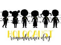 Día de la conmemoración del holocausto 27 de enero Ilustración del vector Fotografía de archivo libre de regalías