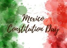 Día de la constitución de México ilustración del vector