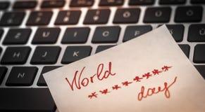 Día de la contraseña del mundo Imagenes de archivo