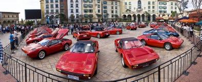 Día de la demostración de Ferrari - 02 granangulares estupendos Imagen de archivo libre de regalías
