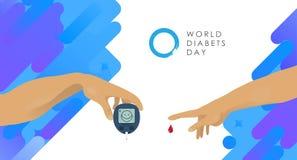 Día de la diabetes del mundo ilustración del vector