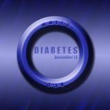 Día de la diabetes del mundo del diseño gráfico relacionado Imagen de archivo
