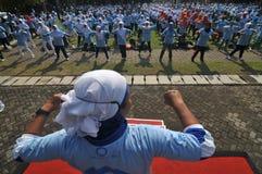 Día de la diabetes del mundo en Indonesia imagen de archivo libre de regalías