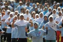 Día de la diabetes del mundo en Indonesia Fotografía de archivo libre de regalías