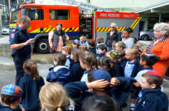 Día de la educación de la seguridad contra incendios Fotos de archivo libres de regalías