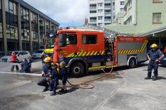 Día de la educación de la seguridad contra incendios Foto de archivo libre de regalías