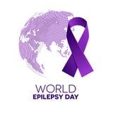 Día de la epilepsia del mundo stock de ilustración