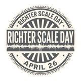 Día de la escala de Richter Foto de archivo