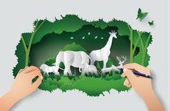 Día de la fauna del mundo libre illustration
