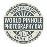 Día de la fotografía del agujerito del mundo Fotografía de archivo libre de regalías