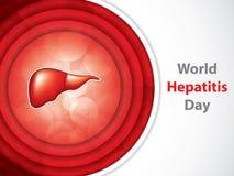 Día de la hepatitis del mundo stock de ilustración