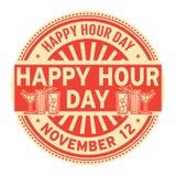 Día de la hora feliz, el 12 de noviembre stock de ilustración