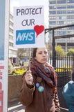 Día 2 de la huelga de 48 horas de Junior Doctors Fotografía de archivo libre de regalías