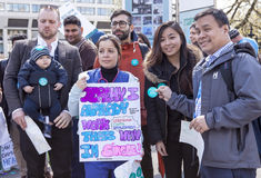 Día 2 de la huelga de 48 horas de Junior Doctors Foto de archivo