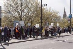Día 2 de la huelga de 48 horas de Junior Doctors Imagen de archivo libre de regalías