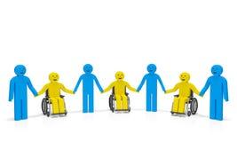 Día de la incapacidad del mundo Personas discapacitadas Imagen de archivo libre de regalías