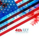 Día de la Independencia americano stock de ilustración