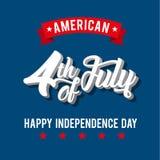 Día de la Independencia americano Imágenes de archivo libres de regalías