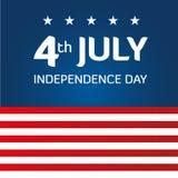 Día de la Independencia americano Imagen de archivo libre de regalías