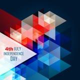Día de la Independencia americano abstracto stock de ilustración