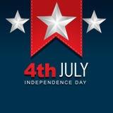 Día de la Independencia americano elegante stock de ilustración