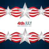 Día de la Independencia americano hermoso stock de ilustración