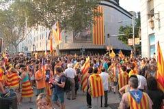 Día de la Independencia de Cataluña Imágenes de archivo libres de regalías